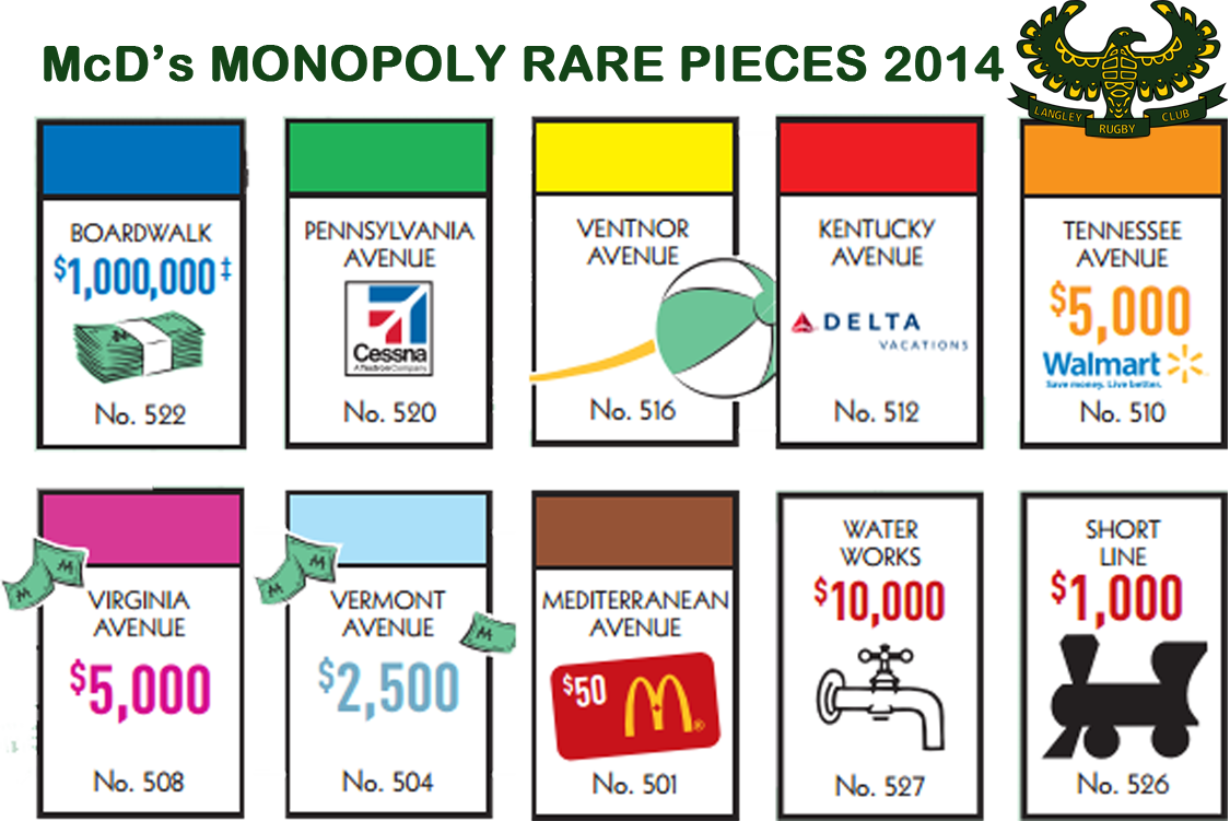 MONOPOLY RARE 2014
